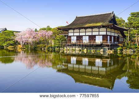 Kyoto, Japan at Heian Temple in the spring season.