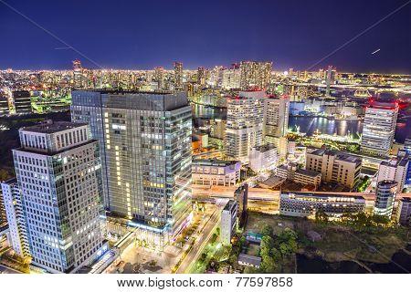 Tokyo, Japan cityscape at night.