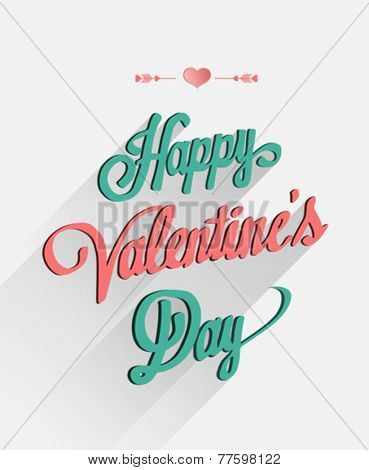 Digitally generated Happy valentines day vector in cursive font