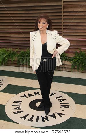 LOS ANGELES - MAR 2:  Jackie Collins at the 2014 Vanity Fair Oscar Party at the Sunset Boulevard on March 2, 2014 in West Hollywood, CA