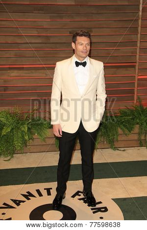 LOS ANGELES - MAR 2:  Ryan Seacrest at the 2014 Vanity Fair Oscar Party at the Sunset Boulevard on March 2, 2014 in West Hollywood, CA