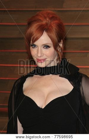 LOS ANGELES - MAR 2:  Christina Hendricks at the 2014 Vanity Fair Oscar Party at the Sunset Boulevard on March 2, 2014 in West Hollywood, CA
