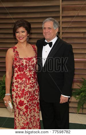 LOS ANGELES - MAR 2:  Julie Chen, Les Moonves at the 2014 Vanity Fair Oscar Party at the Sunset Boulevard on March 2, 2014 in West Hollywood, CA