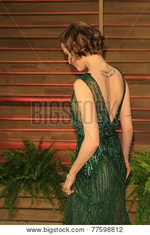 LOS ANGELES - MAR 2:  Evan Rachel Wood at the 2014 Vanity Fair Oscar Party at the Sunset Boulevard on March 2, 2014 in West Hollywood, CA