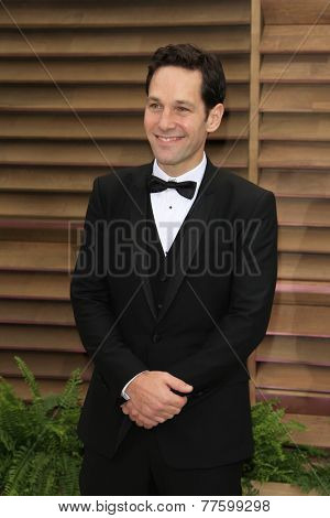 LOS ANGELES - MAR 2:  Paul Rudd at the 2014 Vanity Fair Oscar Party at the Sunset Boulevard on March 2, 2014 in West Hollywood, CA