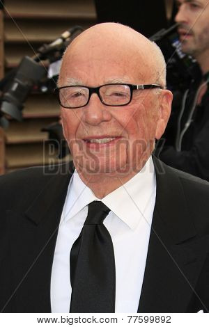 LOS ANGELES - MAR 2:  Rupert Murdoch at the 2014 Vanity Fair Oscar Party at the Sunset Boulevard on March 2, 2014 in West Hollywood, CA