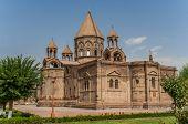 stock photo of armenia  - Holy Etchmiadzin church near Yerevan the capital of Armenia - JPG