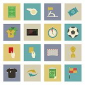 picture of offside  - Soccer flat icons set vector graphic illustration design - JPG