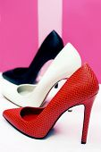 foto of stiletto heels  - Three pairs of high - JPG