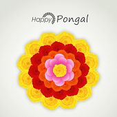 picture of rangoli  - South Indian harvesting festival - JPG