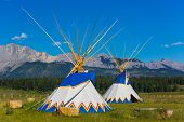picture of nativity  - Authentic tepee of Native North Americans - JPG