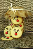picture of rudolf  - round and tasty Rudolf Cookies for Christmas - JPG
