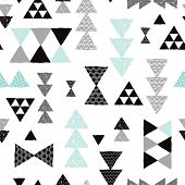 picture of tripe  - Seamless geometric tribal pastel triangle isolated on white hand drawn pastel background pattern in vector - JPG
