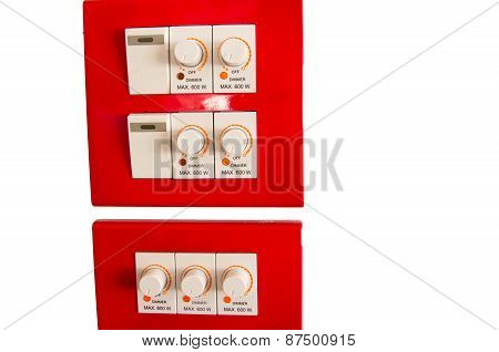 Energy Control Isolated On White Background