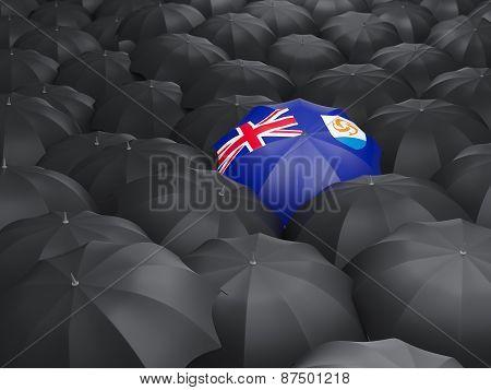 Umbrella With Flag Of Anguilla