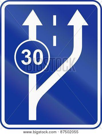 Start Of Slow Lane In Poland
