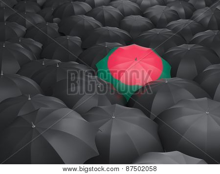 Umbrella With Flag Of Bangladesh