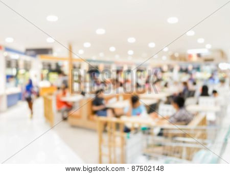 Blurred People In Food Court