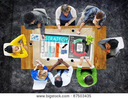 Brainstorming Business Meeting Strategy Concept