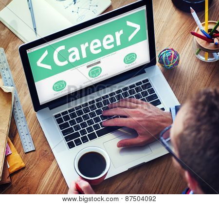Online Business Career Occupation Office Working Concept