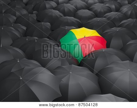 Umbrella With Flag Of Benin
