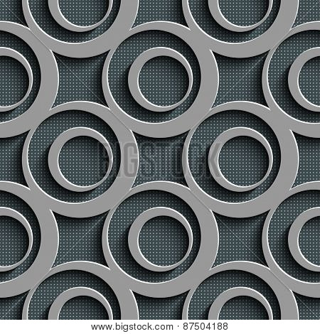 Seamless Circle Pattern. Vector Abstract Background