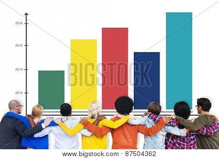 Bar Graph Analysis Strategy Data Concept
