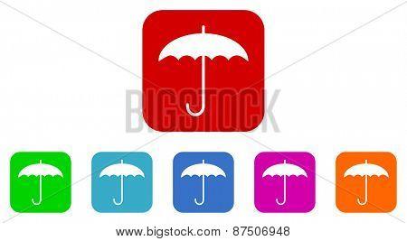 umbrella vector icon set