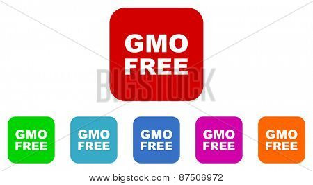gmo free vector icon set