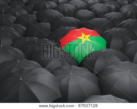 Umbrella With Flag Of Burkina Faso
