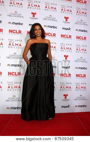LOS ANGELES - SEP 27:  Rosario Dawson at the 2013 ALMA Awards - Press Room at Pasadena Civic Auditorium on September 27, 2013 in Pasadena, CA