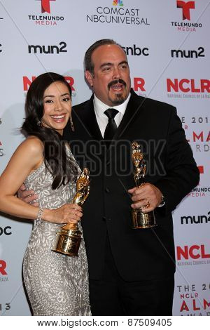 LOS ANGELES - SEP 27:  Aimee Garcia, David Zayas at the 2013 ALMA Awards - Press Room at Pasadena Civic Auditorium on September 27, 2013 in Pasadena, CA