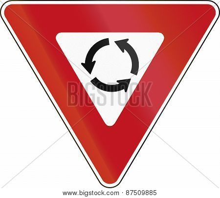 Yield At Roundabout In Canada
