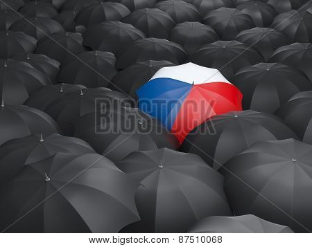 Umbrella With Flag Of Czech Republic