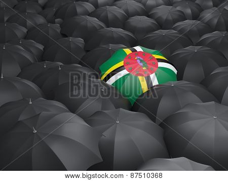 Umbrella With Flag Of Dominica
