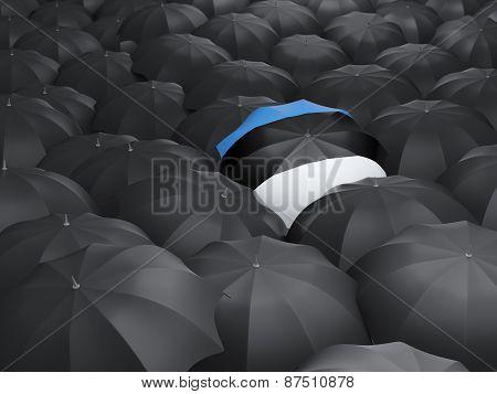 Umbrella With Flag Of Estonia