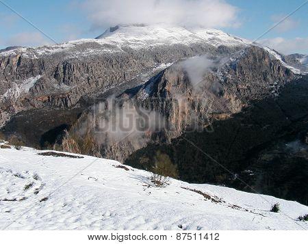 Snow Over Alora Mountains