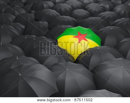 Umbrella With Flag Of French Guiana