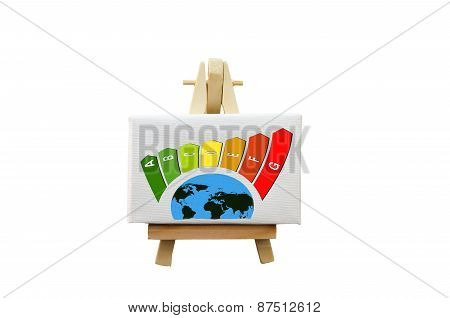 Whiteboard With Eco-labels,