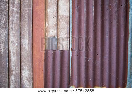 Image Of Rusty Corrugated Metal Iron Sheets