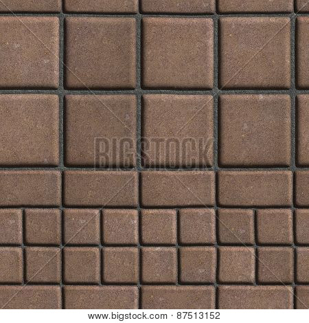 Brown Paving Slabs Lined with Squares of Different Value and Rectangles.