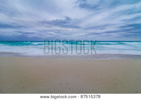 Bad Weather On The Beach In Vacation