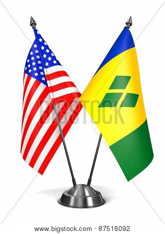 USA, Saint Vincent and Grenadines - Miniature Flags.