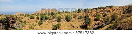 Mountains And Dry River Bed