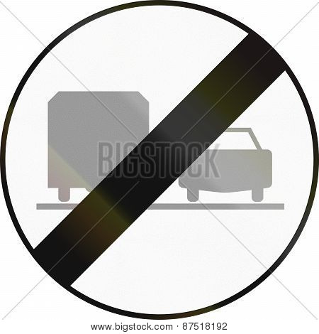 End Of No Overtaking By Lorries In Austria