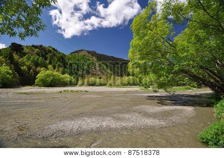 Fox River At Arrowtown New Zealand