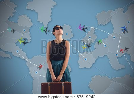 Globetrotting woman
