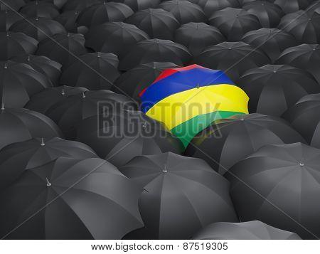 Umbrella With Flag Of Mauritius