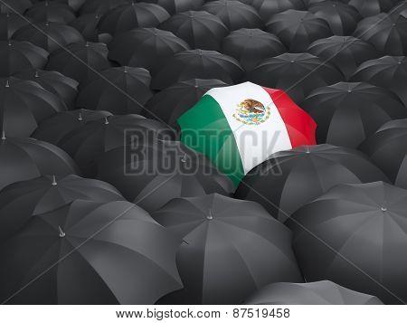 Umbrella With Flag Of Mexico