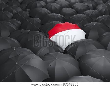 Umbrella With Flag Of Monaco